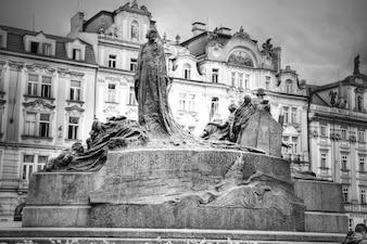 Memorial de Jan Hus em Praga.
