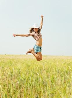 Menina de salto