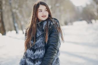 Menina no inverno