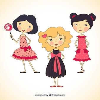 Meninas bonitos ilustração