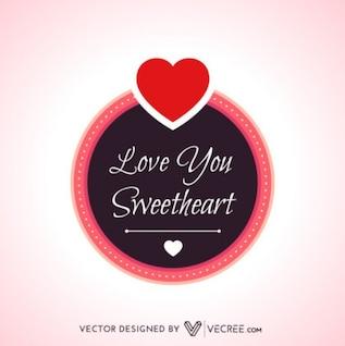 Mensagem de amor caligráfico bonito