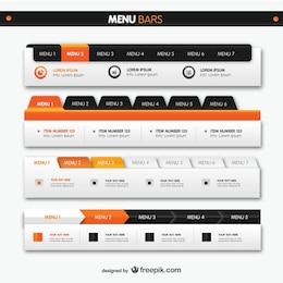 Menu Bars elementos da Web