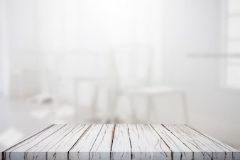 Mesa com fundo