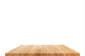 Mesa de madeira ou prateleira isolada