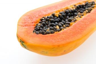 Metade papaya verde doce