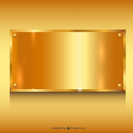 Metal ouro banner background