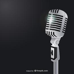 Microfone clássico ilustração vetorial
