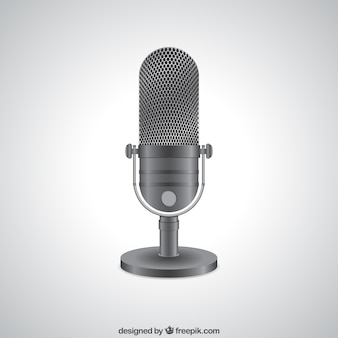 Microfone de rádio realista