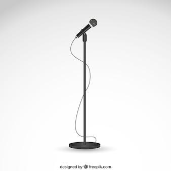 Microfone em um carrinho