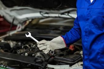Mid-secção da ferramenta da chave de retenção mecânico