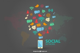 Mídias sociais projeto infograhic