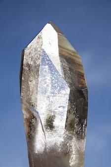 Mineral cristal de rocha de quartzo puro trigonal