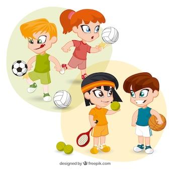 Miúdos que jogam