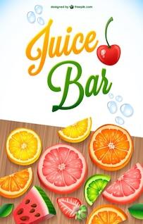 Mix de frutas suco vetor