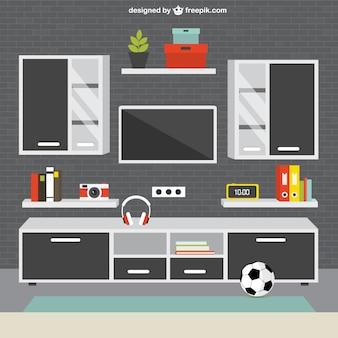 Mobília da sala de estar moderno