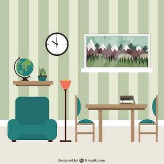 Mobília da sala de estar