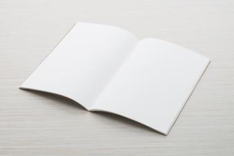 Mock do papel em branco acima