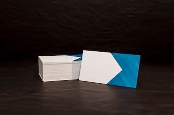 Mockup de pilha de cartão de visita