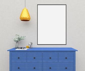 Mockup interior - quadro horizontal