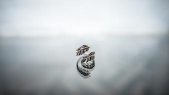 Moda closeup pulseira anel anéis metal
