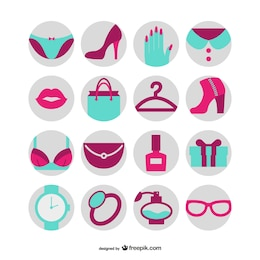 Moda e beleza ícones livres