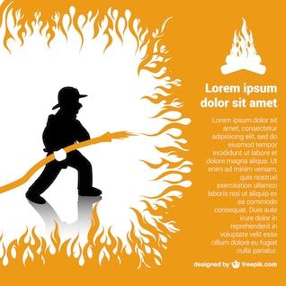 Modelo bombeiro vetor