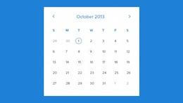 Modelo de calendário mensal