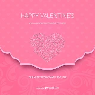 Modelo de cartão de Valentim feliz