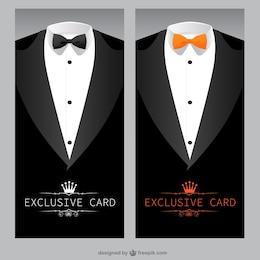 Modelo de cartão exclusivo