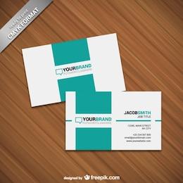 Modelo de cartão minimalista