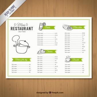 Modelo de menu esboçado