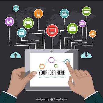 Modelo de vetor de marketing na internet