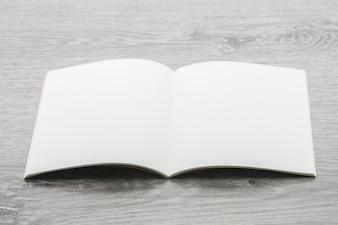 Modelo em branco do livro de nota