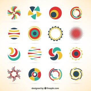 Modelos de logotipo negócio Circulares