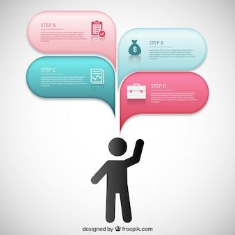 Modern infográfico com balões de fala