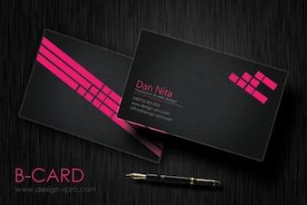 moderno escuro negócio conjunto modelo de cartão psd