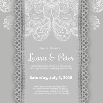 Molde do convite do casamento Ornamental