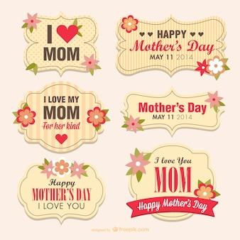 Dia banners flor da mãe