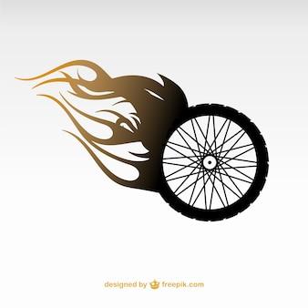 Logotipo roda da motocicleta do vetor