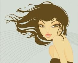 Mulher bonita com cabelo longo
