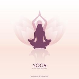 Mulher meditando em posição de lótus da ioga