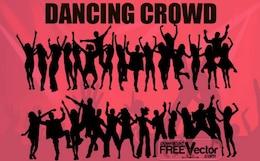 Multidão dança livre Vector