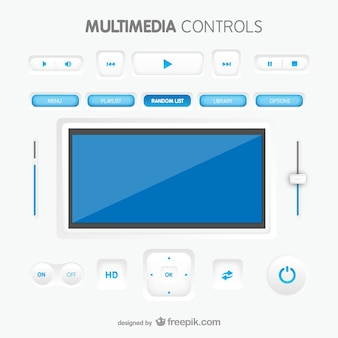 Multimedia controles de interface