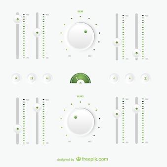 Multimídia botões de regulação