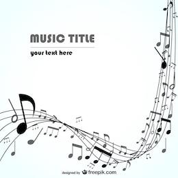 Música de fundo vector
