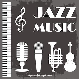 Música jazz vector