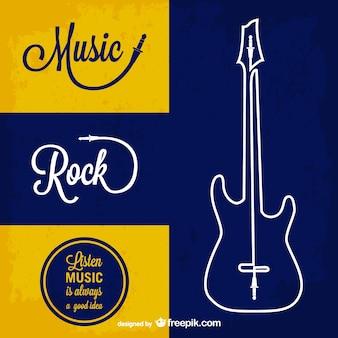 Música rock vetor fundo