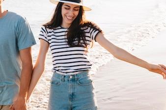 Namorada na praia