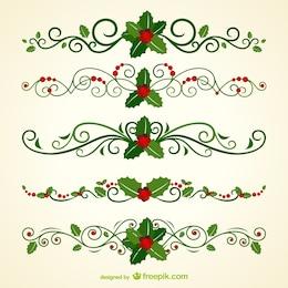 Natal cabeçalhos ornamentais