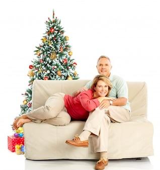Natal do pai de família filho filha pequena